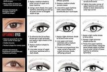 Hodded eyes make-up