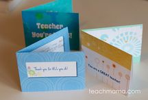 Teacher Gifts / Printable teacher gifts for holidays, teacher appreciation day, and more!