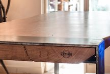 Table haute Albertwood live Edge