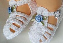 zapatos crochet bebe