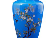 jarro de vidro com pintura