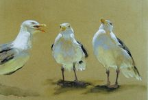 Awesome birds / Oil