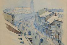 Podkowiński / Władysław  Podkowiński  - Prekursor  Polskiego Impresjonizmu . W 1889 roku  odwiedził Paryż, gdzie  podziwiali wystawę Paula Cezanne'a i Claude'a Moneta. Po powrocie zaś do Warszawy  podjął  w swoim malarstwie eksperymenty impresjonistyczne.