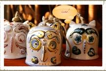 Owls / Gufi e civette a volontà, grandi e piccole, tutte in vendita su http://www.etsy.com/shop/LabLiu