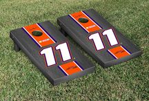 "NASCAR | Start Your Engines | Victory Tailgate2 / Our officially licensed NASCAR cornhole games are made proudly in the USA. Each game set comes with two 24""x48"" regulation boards with folding legs, a complete bag set (8 bags), and a FREE string pack to carry the bags (A $10 value!)."