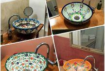 Design-Waschbecken / Exklusive handbemalte Design-Waschbecken aus Mexiko
