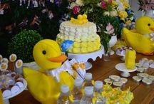 Chá de bebê Patinho Amarelo Baby Shower Yellow Duck