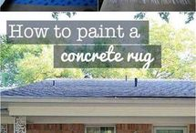 how to paint on concrete