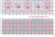 Free filet crochet borders patterns / Free filet crochet borders patterns
