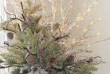christmas flower arrangments