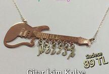 Müzik Aletleri İsim Kolye / 925 Ayar Gümüş Kargo Dahil Kapıda Ödeme (Nakit / K.K) WhatsApp:0554 340 80 50 Özel Ambalajında İstenilen Renk Seçeneğinde Fiyat Farkı Yok!