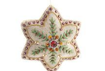 Embroidered Xmas decs