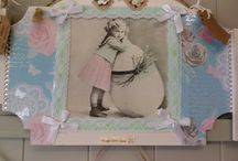 vintage girl plaques In-store