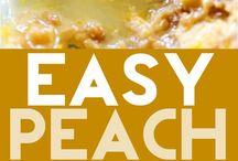 Peach desserts