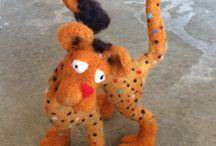 Debi Studios' Wool Felted animals / I love to create 3-dimensional objects out of wool. Some of these critters are if-its and some are just critters.