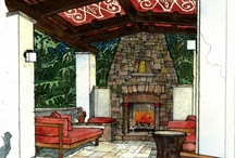 Outdoor Spaces / I have a passion for designing outdoor spaces. 