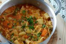minestrone con zucca patate e piselli erbetta