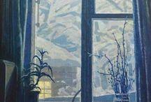 окно живопись