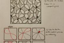 school: zentangle / voor een schrijfles