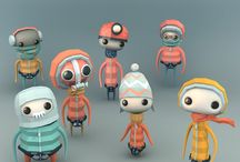 Stylized lowpoly characters
