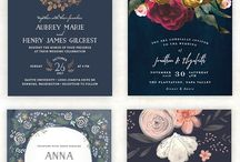 Navy Blue Wedding Invitations and Stationery / Navy blue wedding invitations to go with your navy wedding color palette.