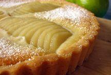 Τάρτες apple and pear +almond