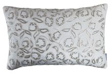 Neutrals with Accents of Silver Decorative Pillows / The Neutrals with Accents of Silver collection of decorative pillows from Lili Alessandra's 2015 catalogue.