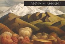 Anna Keener / Art work by Anna Elizabeth Keener (1895-1982) A Colorado native, student of Birger Sandzen and longtime resident of New Mexico.
