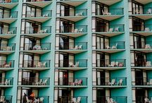 Balconies in facade / by Fabio Carria
