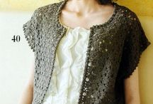 Crocheted vests / ponchos/ jackets/ cardigans