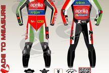 Custom made Racing leather suit as Aleix espargaro wear for aprilia in motogp 2018