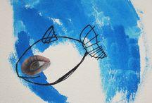 PeZ  / Serie de obras pictóricas de Meluca Redón inspiradas todas ellas en fragmentos literarios sobre la temática del agua.