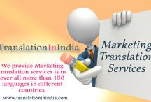 Marketing Translation / Is the most important for all types of business process. It is directly related to business and it shows effectiveness to grow business and it is very important to use proper words to understand your business.