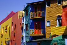 La Boca, Burano, and other colorful towns / Colorful towns around the world