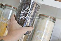 kitchen storage & spice jars