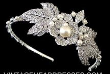 Art Deco Headbands / A collection of vintage headpieces, vintage headbands, tiaras and forehead bands, including 1920's art deco,