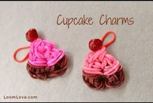Loom band cup cakes