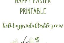 Easter Printables / Easter Printables | Free Easter Printable Art | Easter Art & Decor