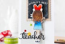 Craft ~ Teacher / All things for those great teachers ~ cards, packaging, tags, wrapping and gifts