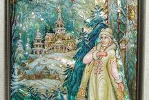русские рисунки