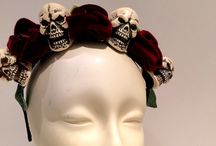 Day of the Dead headpieces / Love skulls and Halloween time!