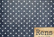 Trend: Denim / Birth announcements where elements of jeans fabric is used and/or the background of the card is filled in with a jeans fabric print.