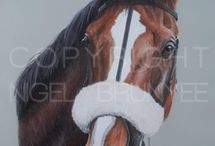 Race Horses In Art- Kauto Star And Denman / Stable mates and rivals