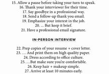 Job hunting ideas