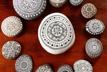 Mandala & other rock painting ideas