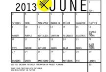 30 Days of Creativity Calendar 2013 / http://30daysofcreativity.com/ / by Federica Buso