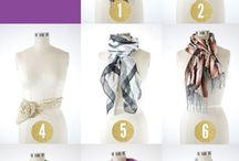 Scarves / To make and how to wear