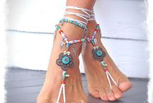 Piedi Hippie / sandali a piedi nudi / by Sonja Bi