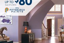PPG Pittsburgh Paints Rebates & Offers / Full details at http://www.ppgpittsburghpaints.com/homeowners/offers / by PPG Voice of Color
