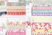 Floral Nursery Ideas / Thinking about designing a floral nursery? Floral never seems to go out of style for a little girls nursery and there are tons of options.  Here are some of our favorites to help inspire you, plus some of our bedding sets that will fit in perfectly!